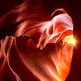 Heart of the Canyon by Stephen Berry - Landscapes Caves & Formations ( upper, az, heart, page, antelope canyon )