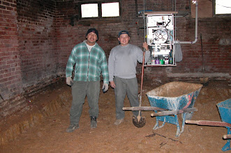 Photo: February 2004 - Month 6: Digging out the lower level. Standing in Room 101 - tiny old windows!