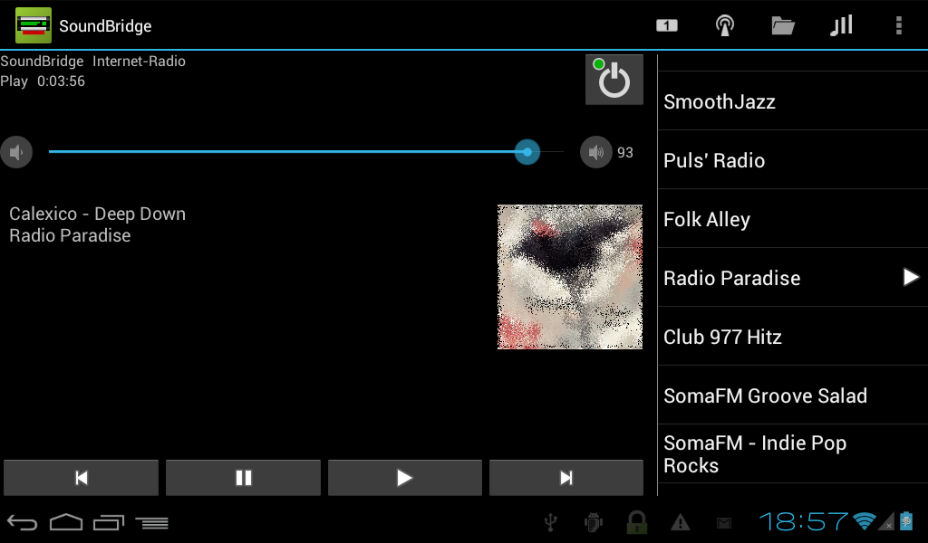 Remote for SoundBridge- screenshot