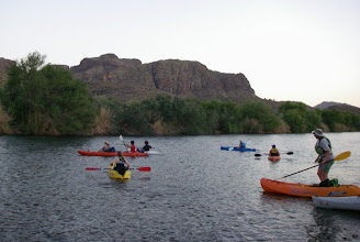 Photo: Lazy put-in after sunset, cool temps in low 80s on the water.