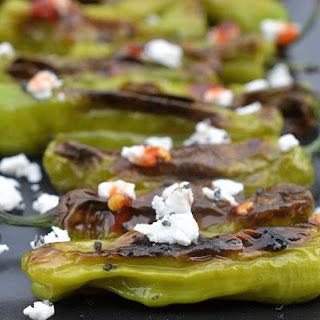 Shishito Peppers with Goat Cheese & Chili Sauce Recipe
