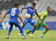 Teboho Mokoena of SuperSport  during the Telkom Knockout quarterfinal match against Arrows at the weekend. Matsatsantsa did not release the midfielder for national duty.