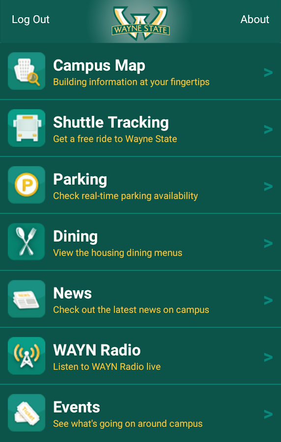 Wayne State Mobile- screenshot