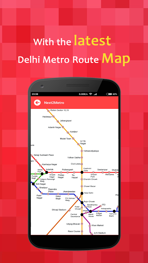 Delhi Metro: Routes, Fares, Places & Gates Info- screenshot