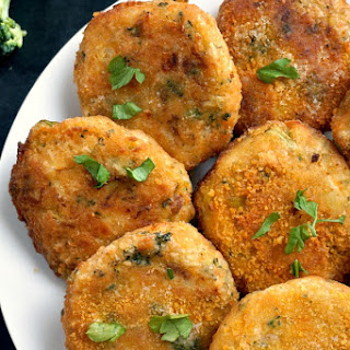 Chickpea And Vegetable Patties.