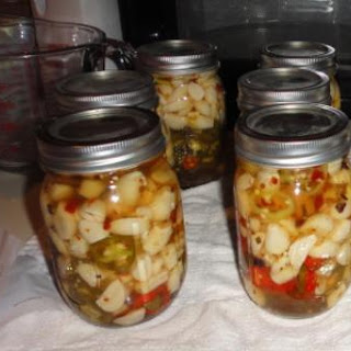 Pickled Garlic with Jalapenos