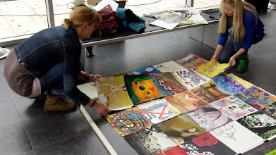 Photo: The Human Rights Flag Centre Céramique 31 March Maastricht The Netherlands:setting
