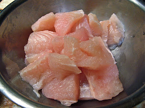 Photo: cut basa fish chunks