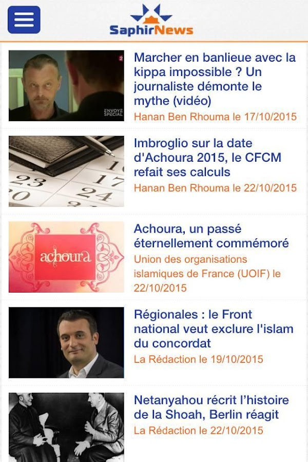 Saphirnews.com- screenshot