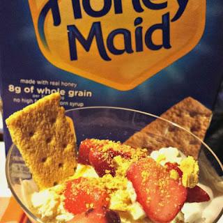 Vanilla Graham Cracker Sundae with Strawberries.