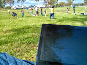 Photo: Working During Sports Class