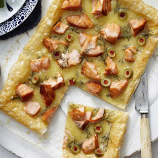 Rustic Salmon and Olive Tart