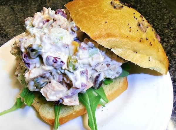 Smoked Turkey Pomcranberry & Nut Salad Sandwich Recipe