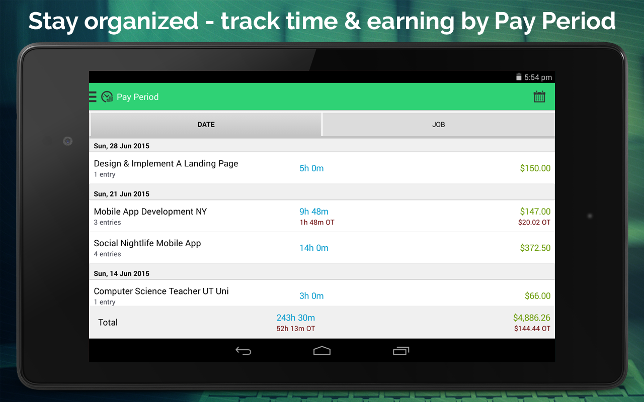 Work Hours Tracking & Billing- screenshot