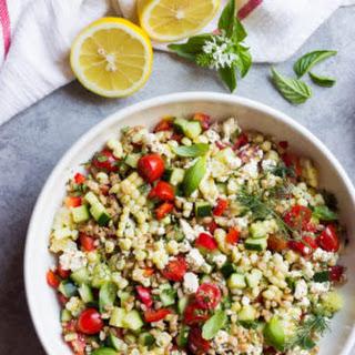 Chopped Farmers Market Farro Salad.
