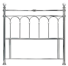 Metal Floor Standing Headboard in Antique Nickel