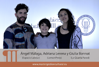 Photo: Ángel Málaga, Adriana Lerena y Giulia Bonnat (Módulo AAEE)