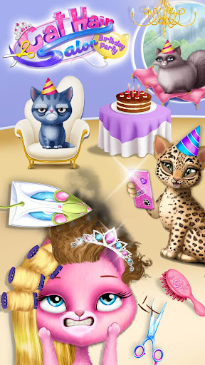 Cat Hair Salon Birthday Party - Virtual Kitty Care 5.0.6 de.gamequotes.net 5