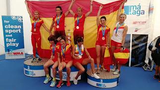 Atletas almerienses en la prueba celebrada en Málaga.