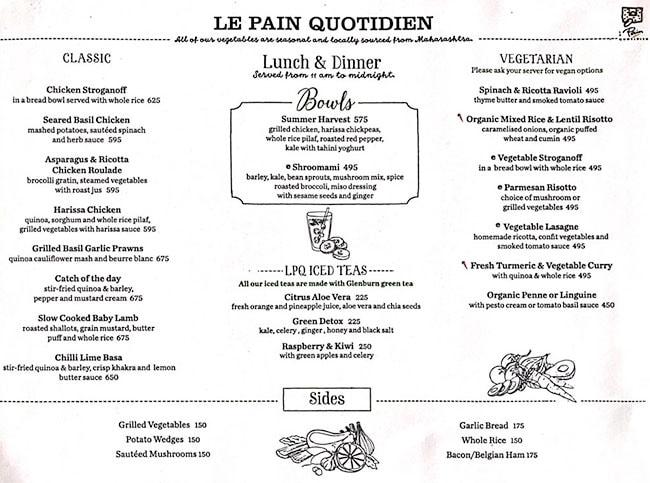 Le Pain Quotidien menu 4
