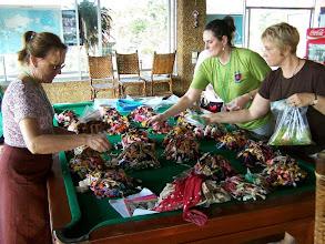 Photo: sorting donated thread