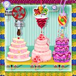 Wedding Party Cake Factory Icon