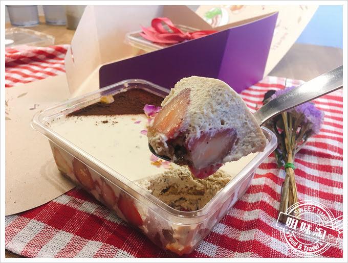 迪波波藝食館玫瑰草莓提拉米蘇