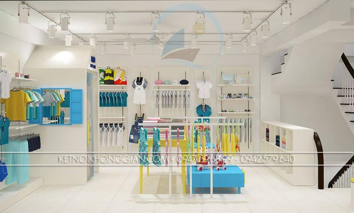 thiết kế shop thời trang mẹ và bé bắt mắt