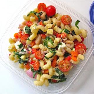Multi-Color Mediterranean Pasta Salad.