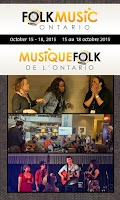 Screenshot of Folk Music Ontario