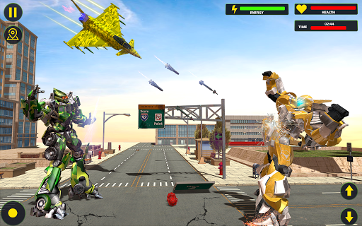 US Army Jet Robot Transforming Wars 1.6.4 screenshots 2