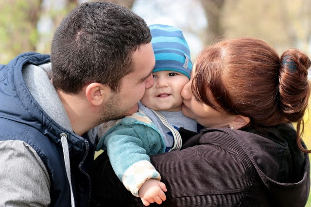 Family, Toddler, Love, Mom, Dad, Kiss, Innocence