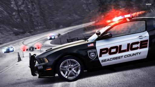 警方吉普车:停车场3D
