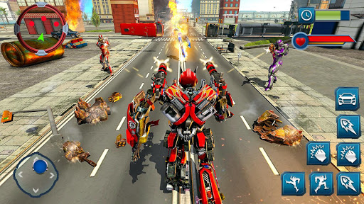 Ramp Car Robot Transforming Game: Robot Car Games screenshots 7