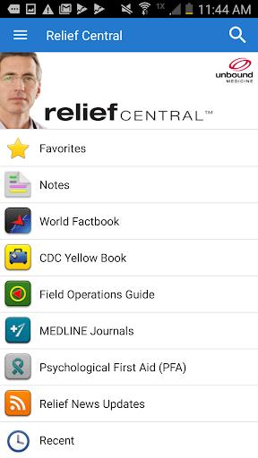 Relief Central screenshot 1