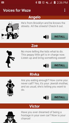 Voices for Waze GPS 1.30 screenshots 1
