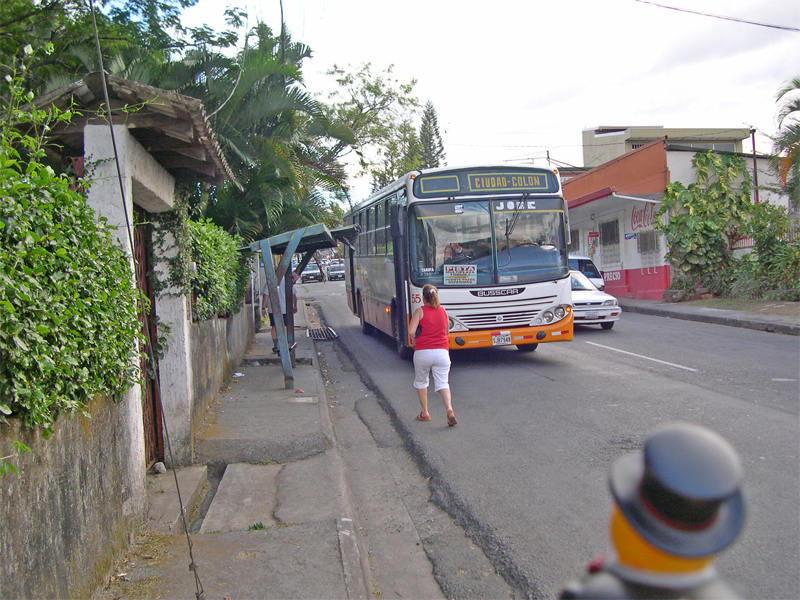 Photo: ciudad colon: a public bus