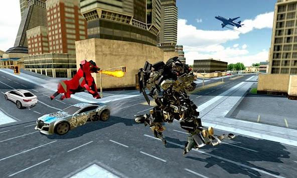 Robot Police Dog Robotic Attack apk screenshot