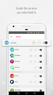 urbi - carsharing and mobility aggregator- screenshot thumbnail