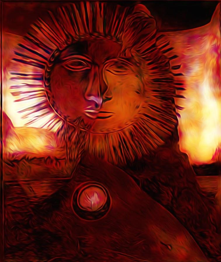 Sun by Věra Blechová - Illustration Abstract & Patterns