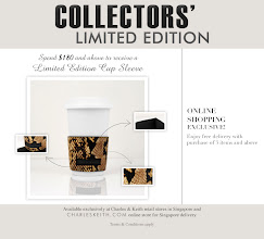 Photo: Charles & Keith Singapore  Calling coffee & tea lovers! Add a touch of style to your favorite morning hot beverage break with Charles & Keith statement cup sleeve. Simply spend $180 and above in a single receipt to receive the limited edition collector's item.   Promotion valid in all Singapore retail stores and CHARLESKEITH.COM Singapore deliveries.