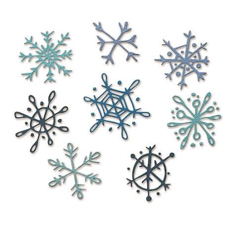 Tim Holtz Sizzix Thinlits Dies - Scribbly Snowflakes