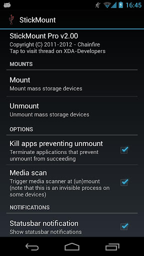 root] StickMount Pro by Chainfire (Google Play, United