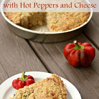Zucchini Cornbread with Hot Peppers and Cheese