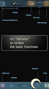 Website Builder for Android - náhled