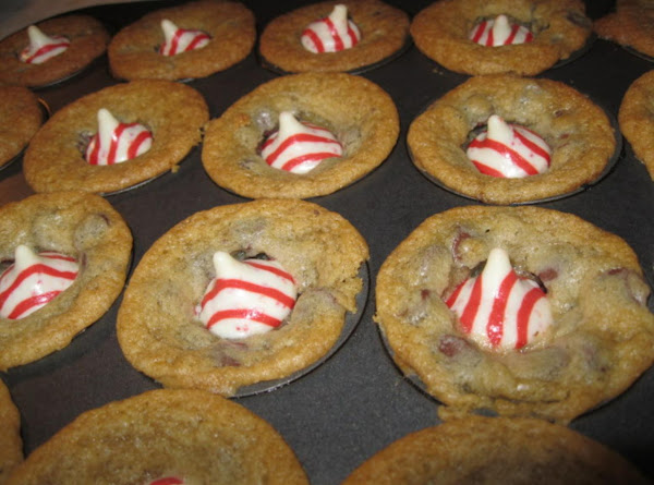 Chocolate Chip Bites Topped With A Kiss! Recipe