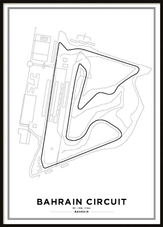 Poster, Bahrain International Circuit Formula 1 Print White