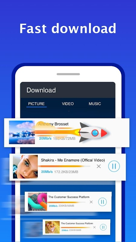 Web Browser for Android screenshots