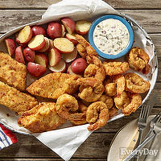 Slimmed-Down Seafood Combo Platter