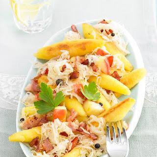 Schupfnudel-Pfanne zu Apfel-Sauerkraut